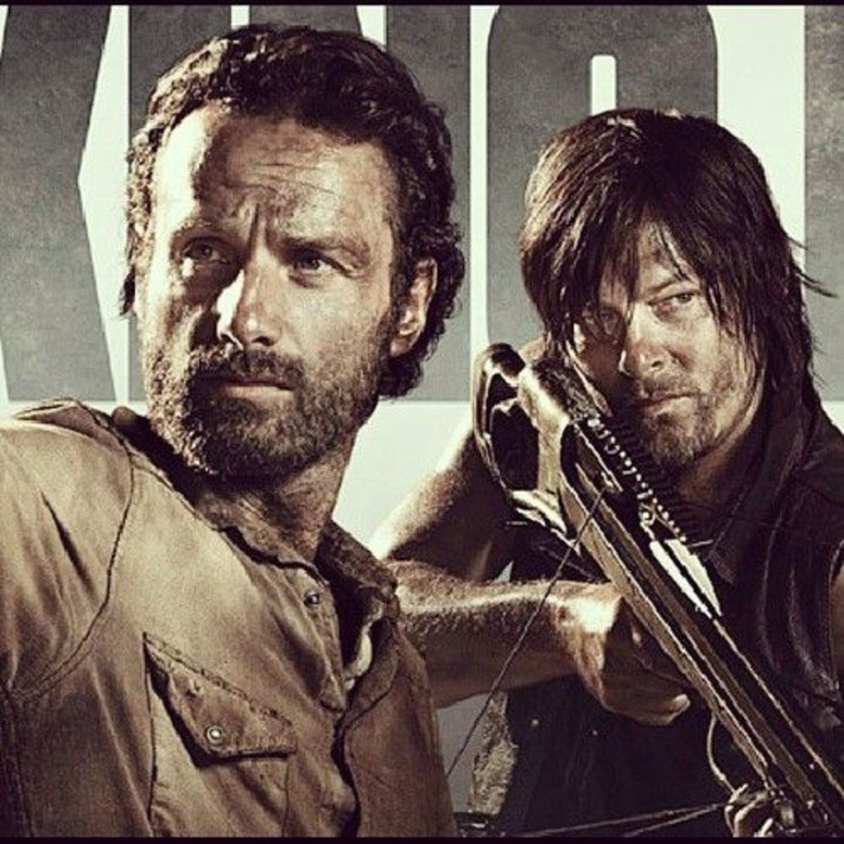 Rick and Darryl Walking Dead