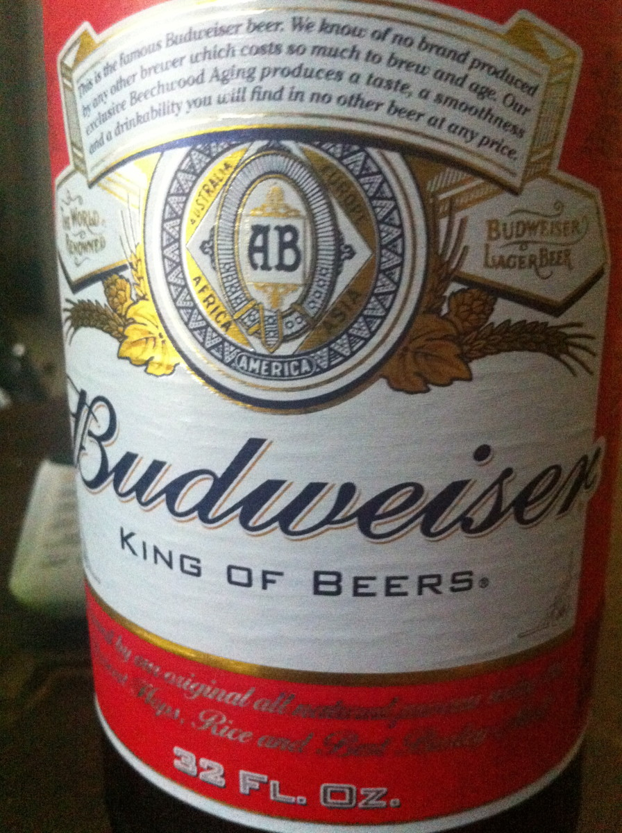 Don't let the king of beers, be the king of you! 32oz beer NOT equivalent to ONE beer.