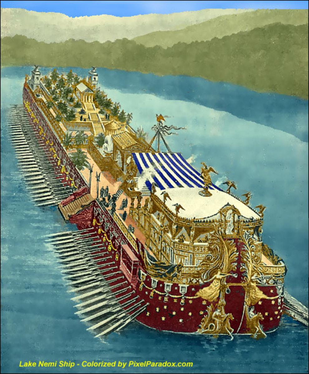 Los fabulosos navíos de Calígula en el lago de Nemi 8444398