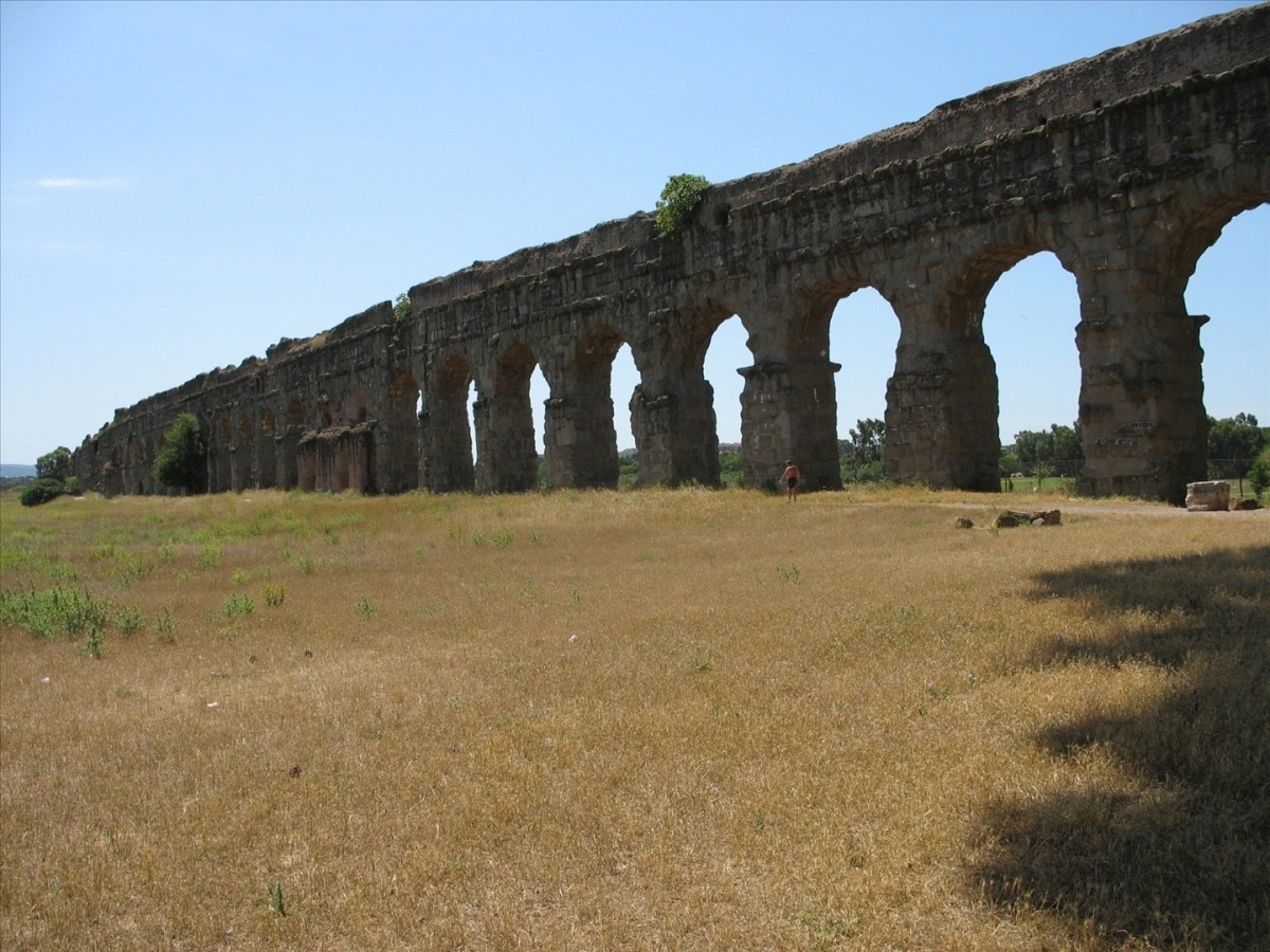 Another of the new aqueducts built by Caligula