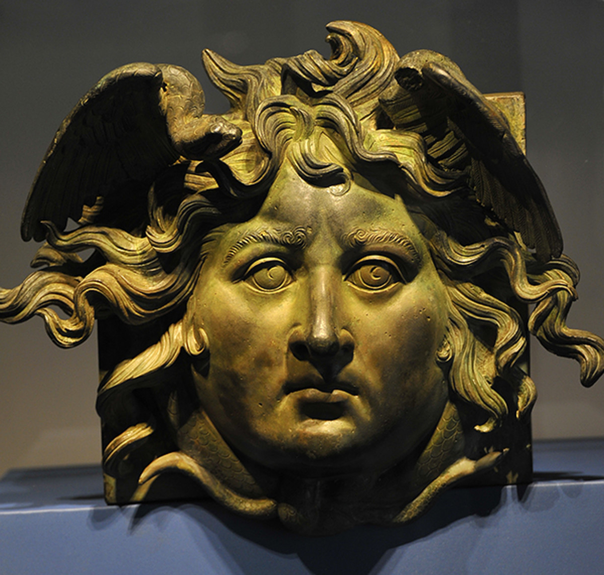 Gorgon bronze from the wreck