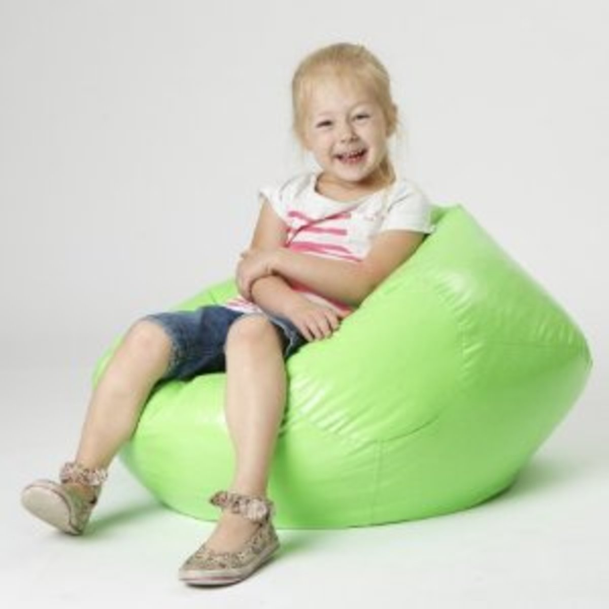 Taylor Lime Vinyl Kids Bean Bag