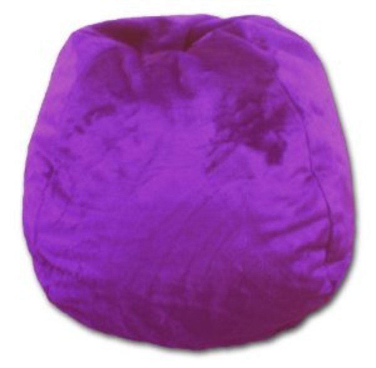 Furry Bean Bag Chair in Purple