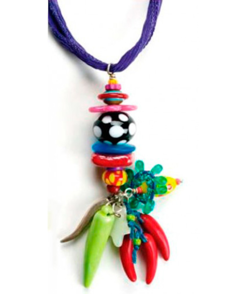 """The """"Stacked Bead Pendant"""" project, also in the book."""