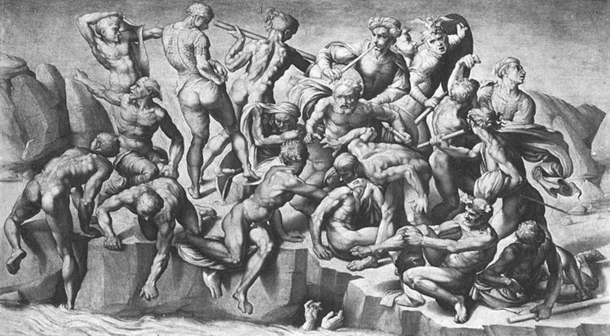 Aristotle da Sangallo,The Battle of Cascina, from Michelangelo (1542)