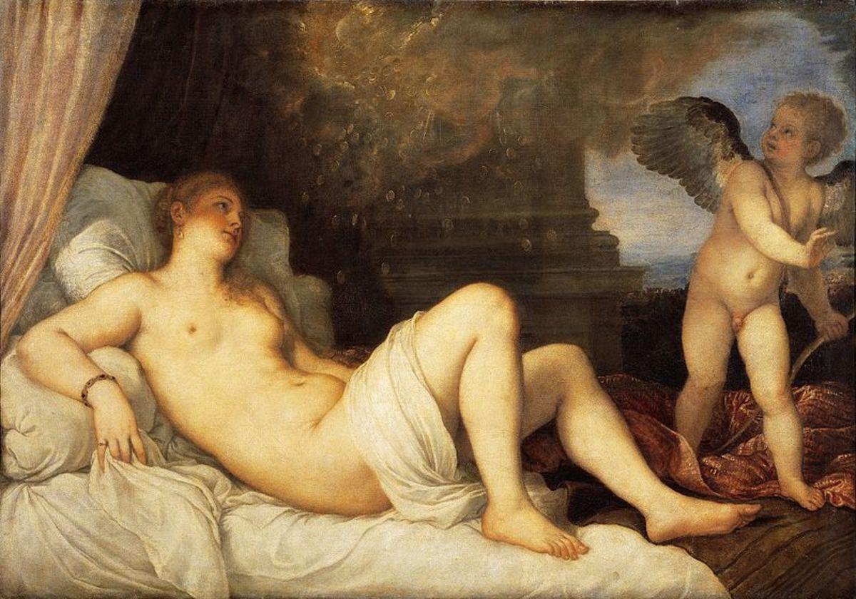 Titian, Danae (1545), Naples Capodimonte Museum