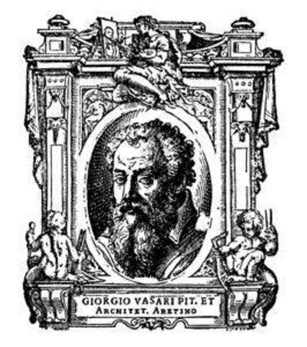 The portrait of Giorgio Vasari. In the second edition of the Lives, Vasari had added a portrait such as this for every artist.