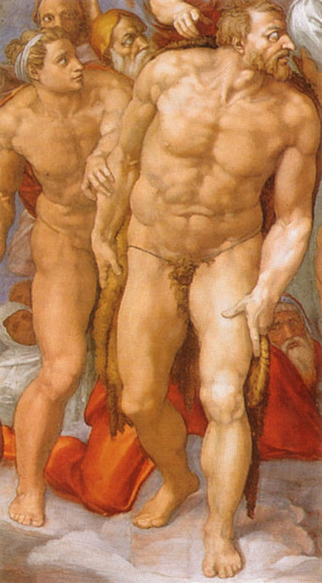 Michelangelo, St. John the Baptist, The Last Judgement, Sistine Chapel.