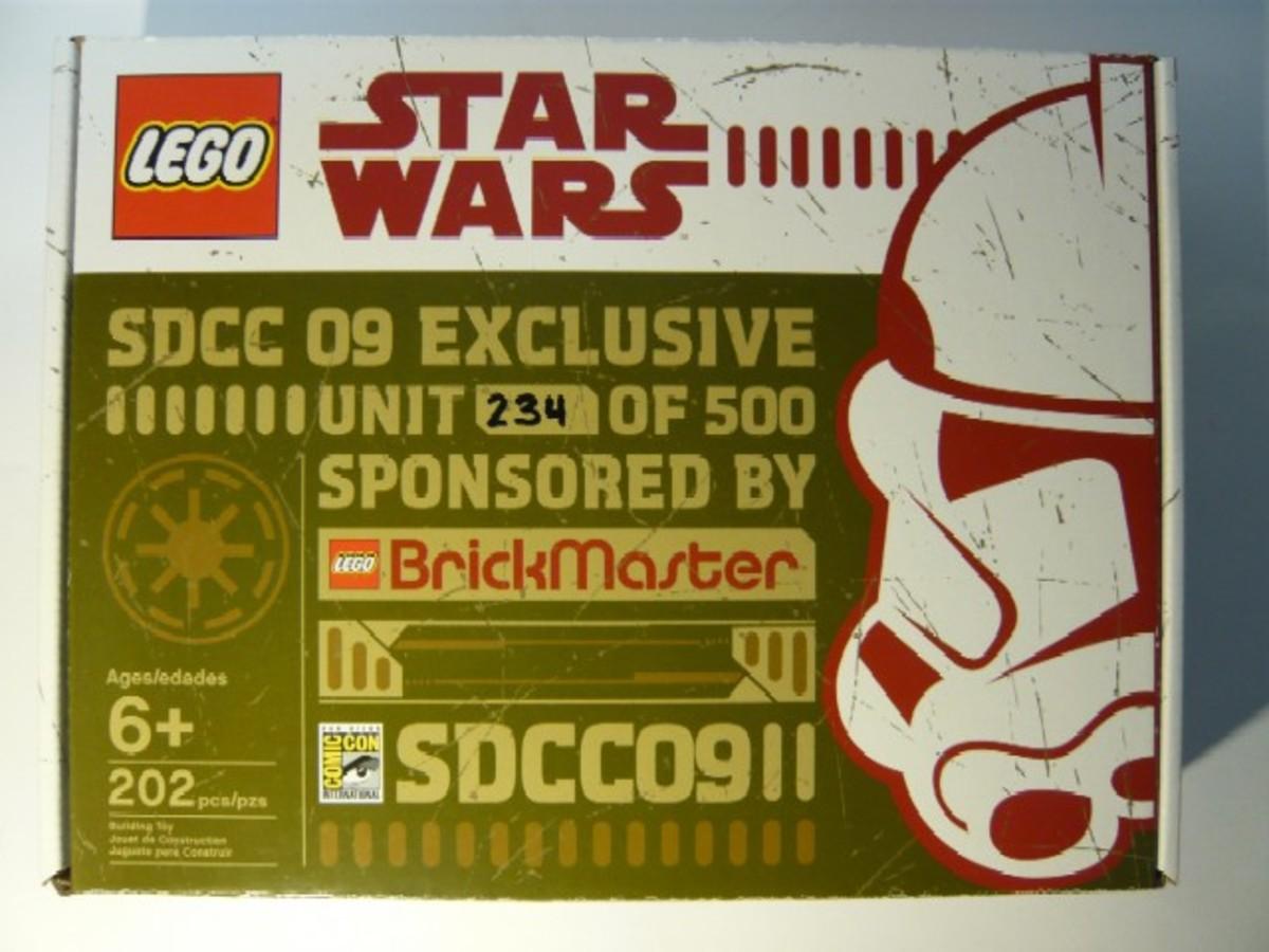 SDCC 2009 LEGO Star Wars Republic Dropship & AT-TE comcon10 Box