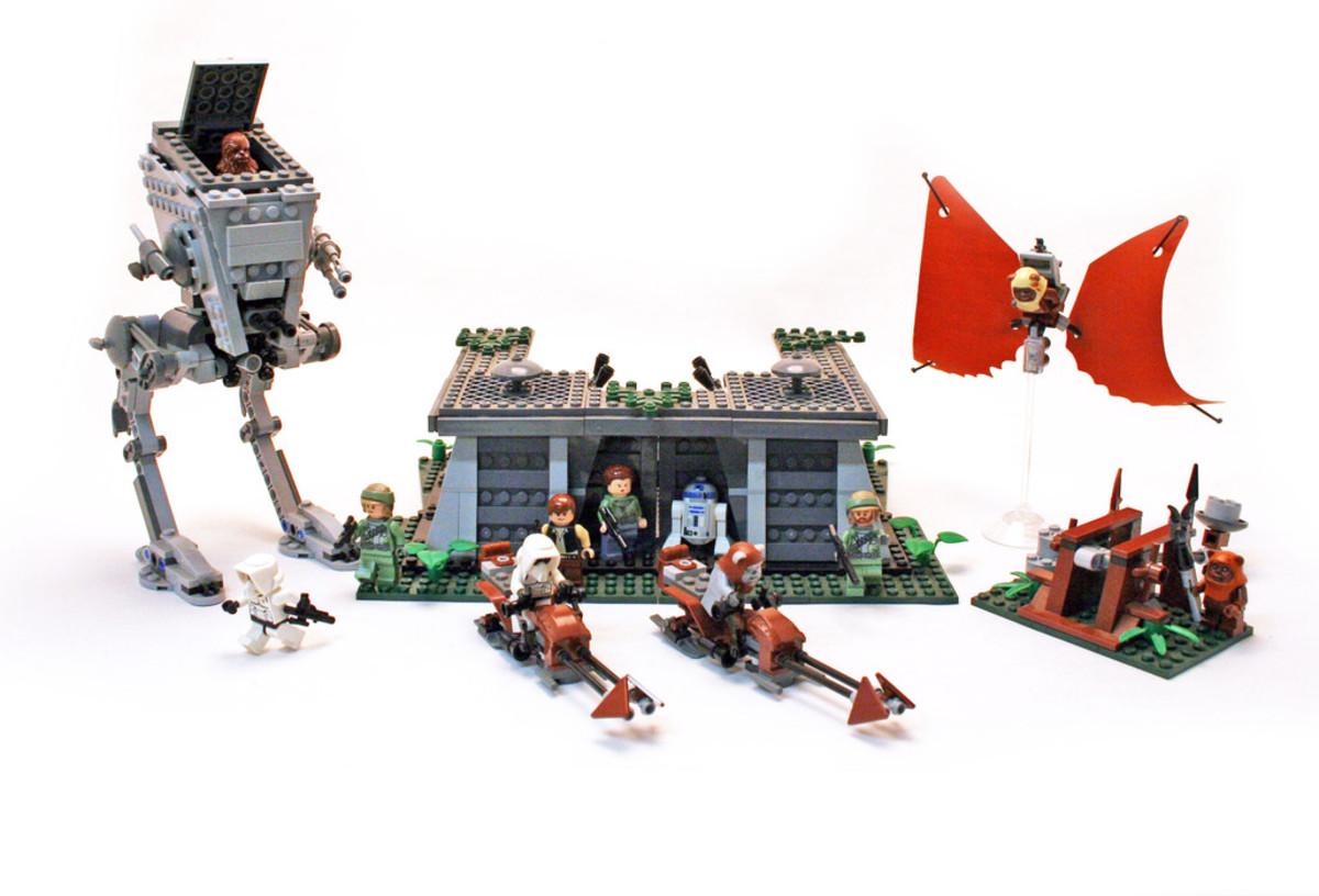 LEGO Star Wars Battle Of Endor 8038 Assembled Front