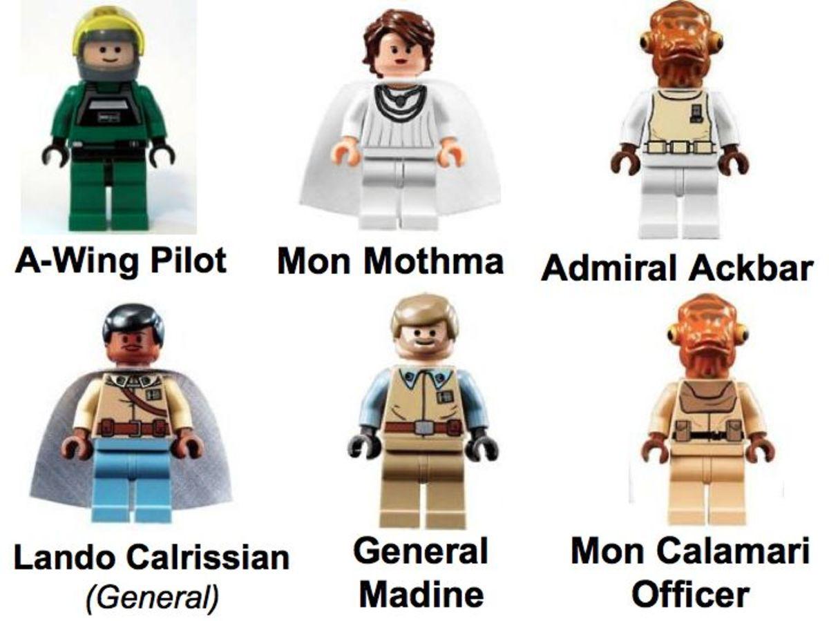 LEGO Star Wars Home One Mon Calimari Star Cruiser 7754 Minifigures