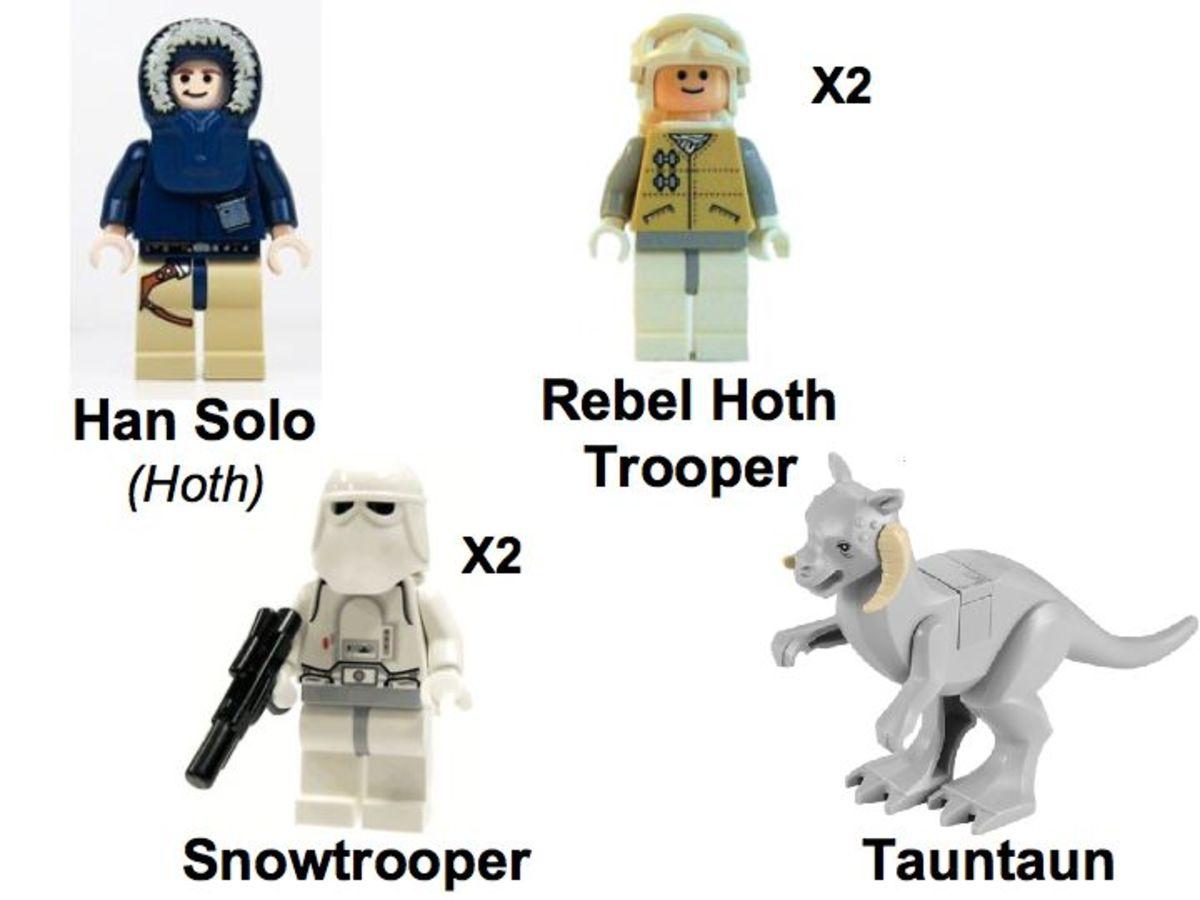 LEGO Star Wars Echo Base 7749 Minifigures