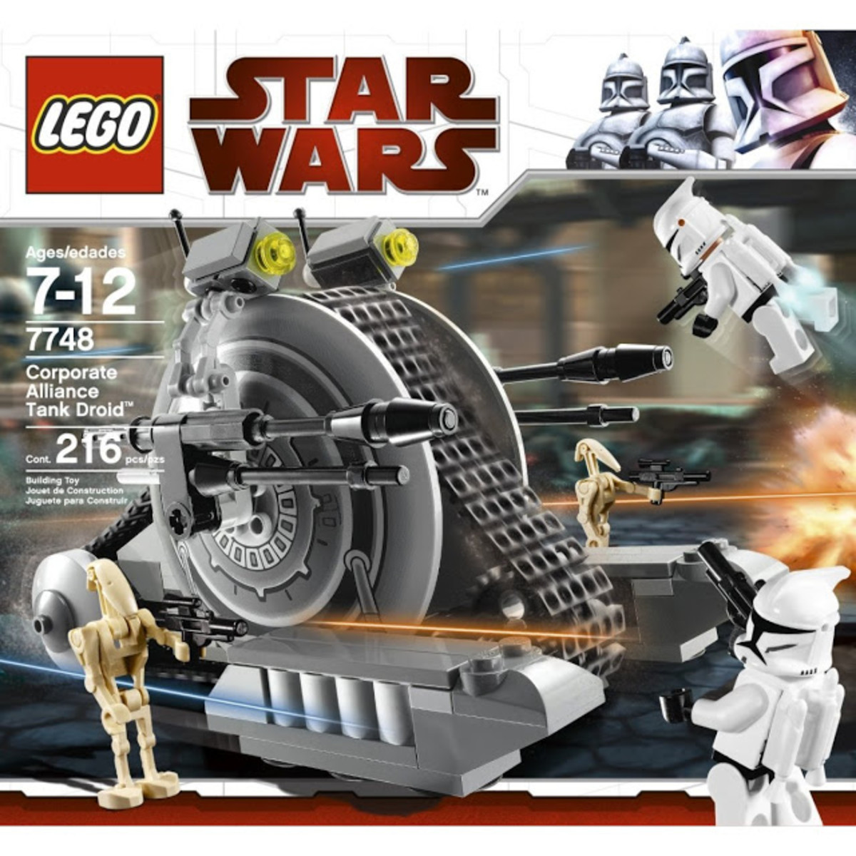 LEGO Star Wars Corporate Alliance Tank Droid 7748 Box