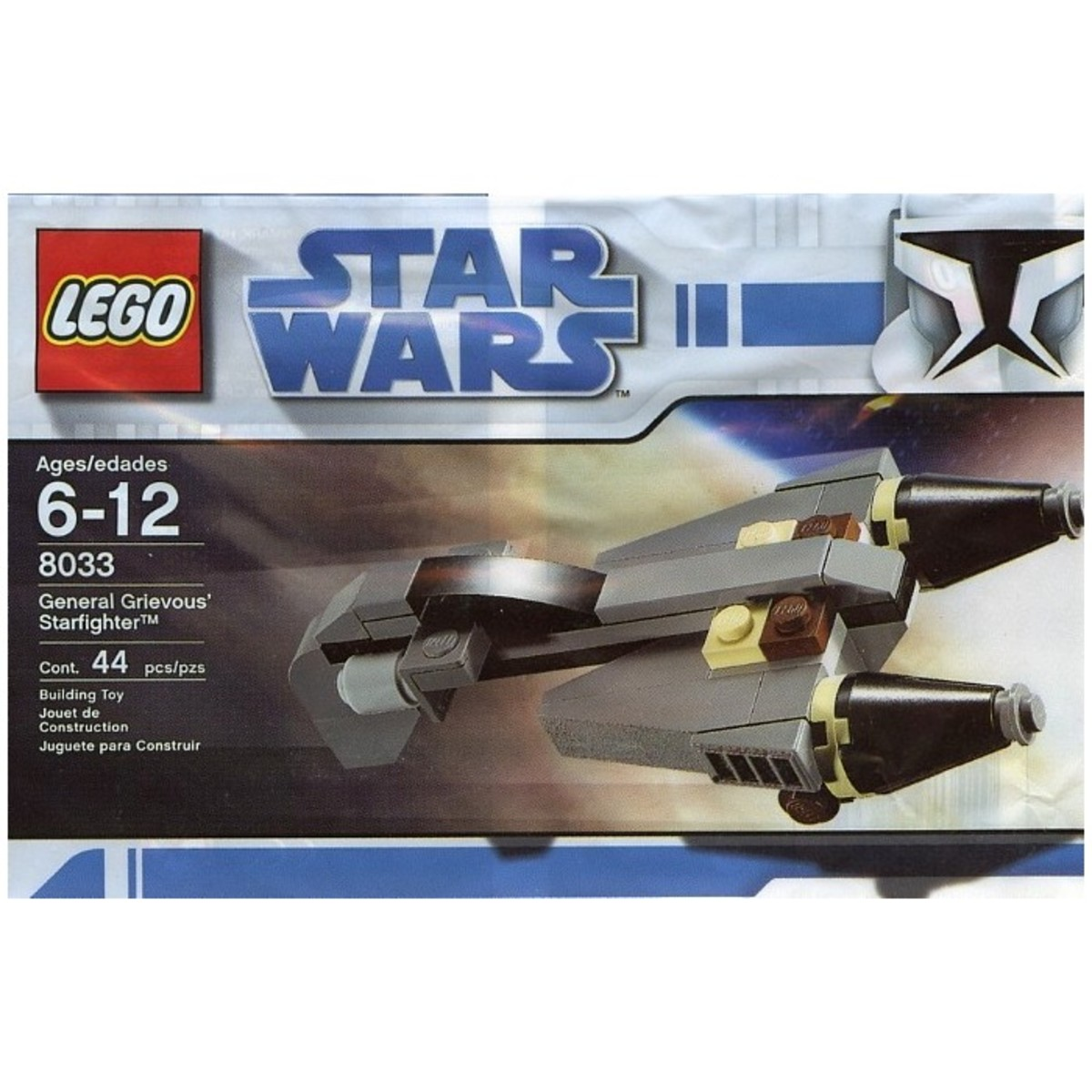 LEGO Star Wars General Grievous Starfighter 8033 Bag