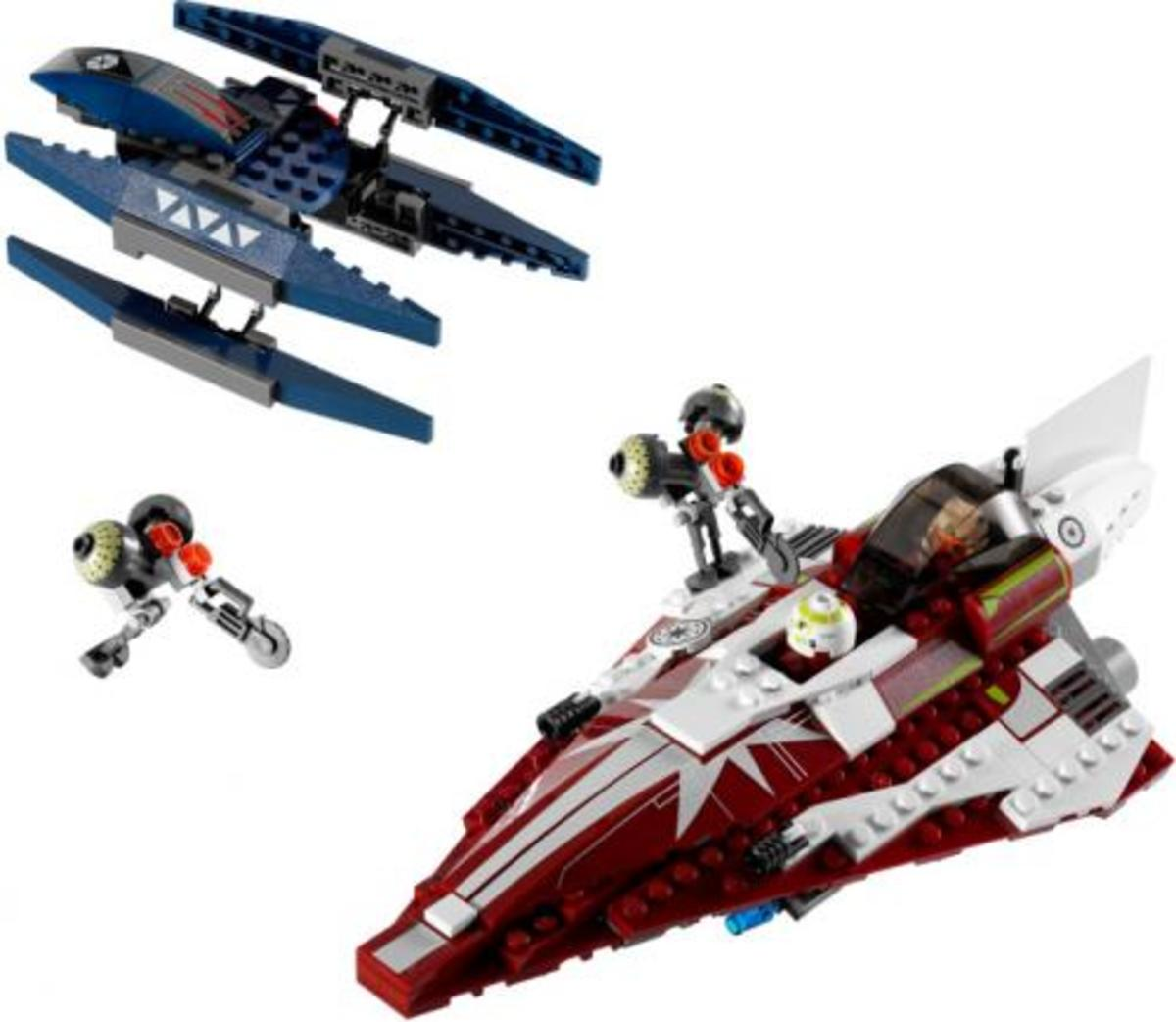 LEGO Star Wars Ahsoka's Starfighter & Vulture Droid 7751 Assembled