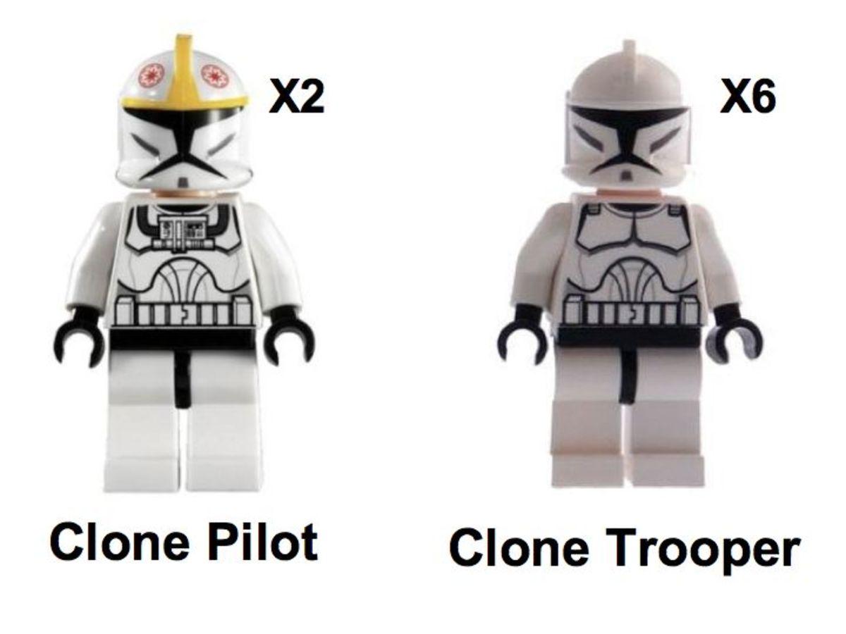 LEGO Star Wars Republic Dropship & AT-OT Walker 10195 Minifigures