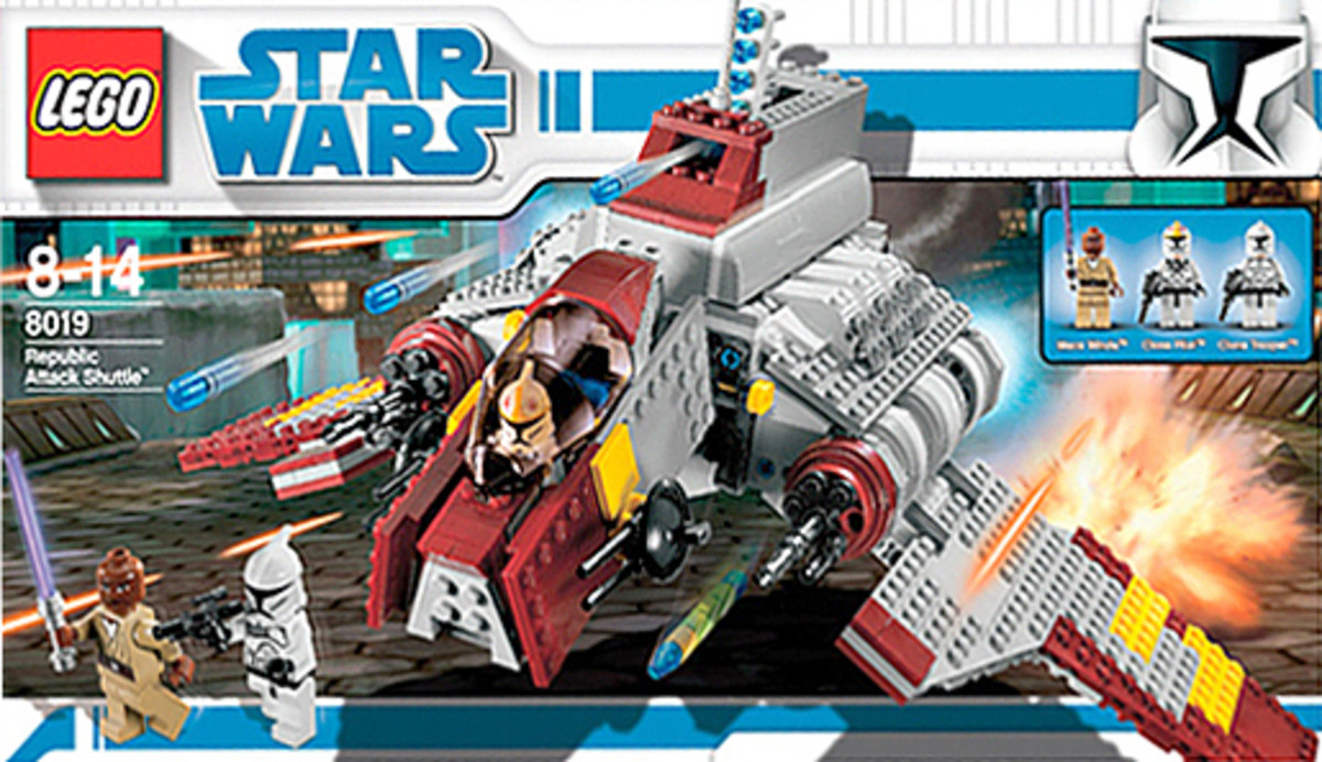 LEGO Star Wars Republic Attack Shuttle 8019 Box