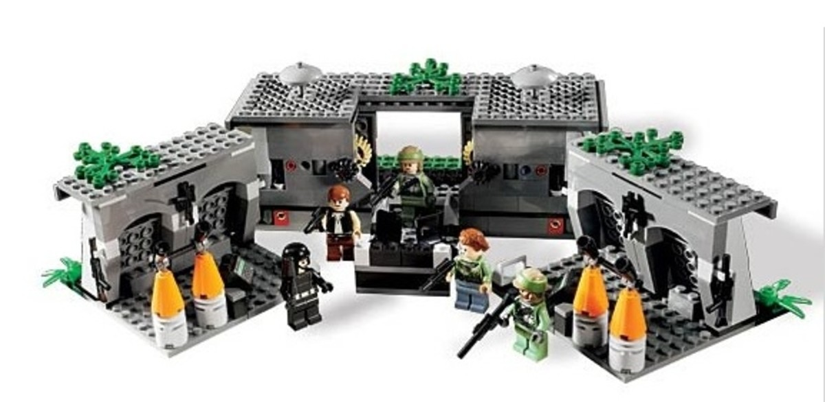 LEGO Star Wars Battle Of Endor 8038 Assembled Inside