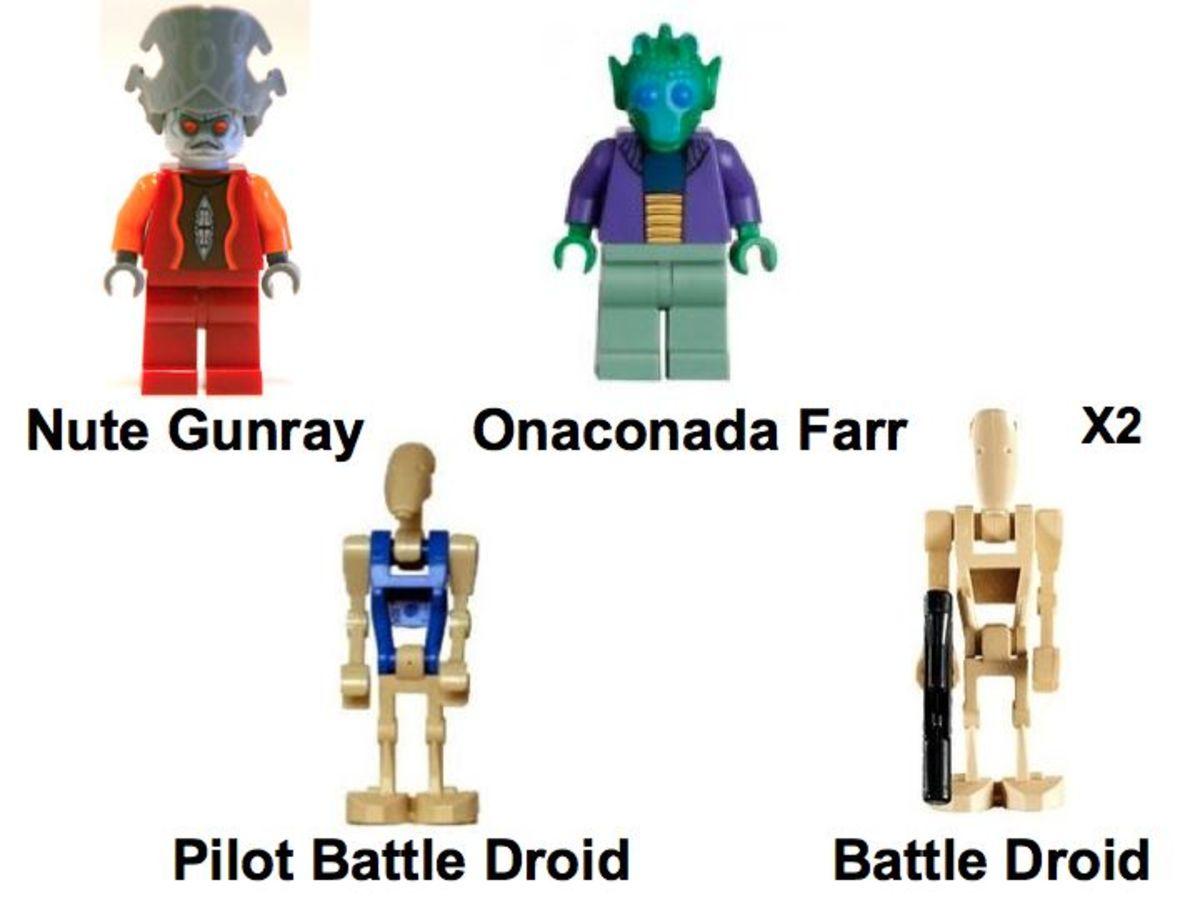 LEGO Star Wars Separatist Shuttle 8036 Minifigures