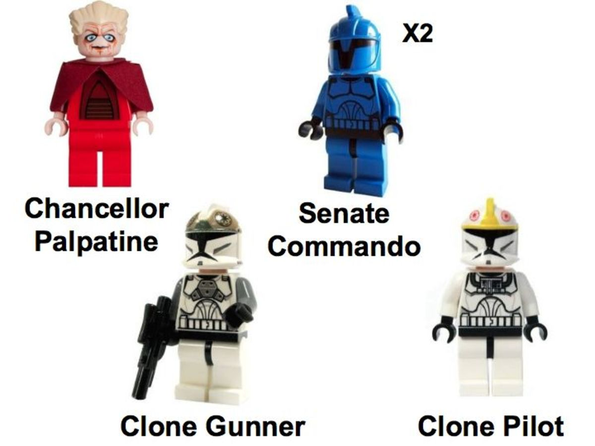 LEGO Star Wars Venator-Class Republic Attack Cruiser 8039 Minifigures