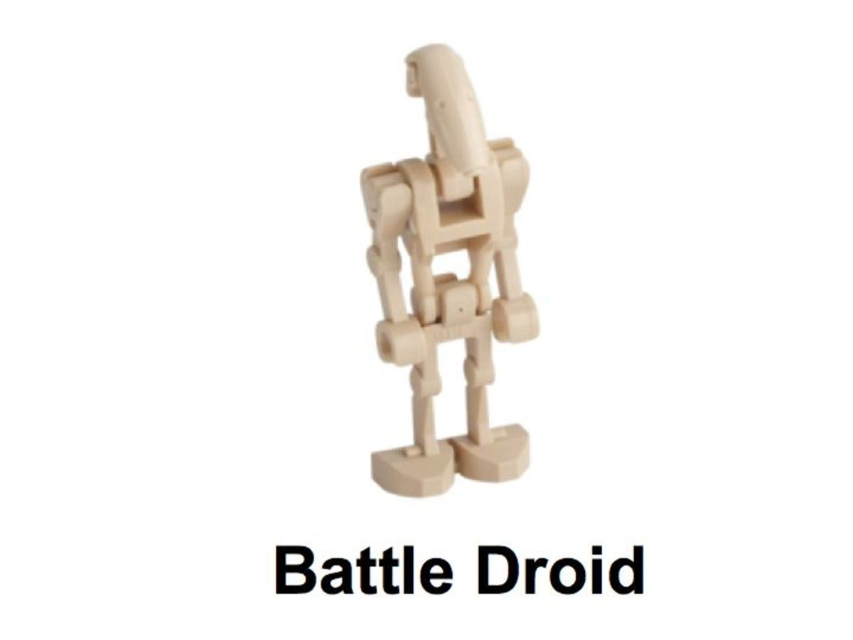 LEGO Star Wars Battle Droid on STAP 30004 Battle Droid Minifigure