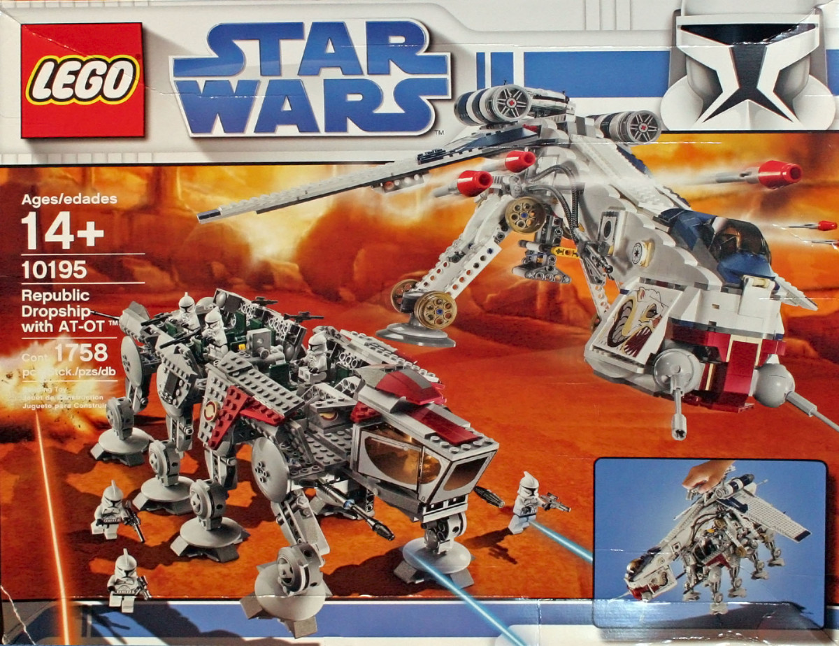 LEGO Star Wars Republic Dropship & AT-OT Walker 10195 Box