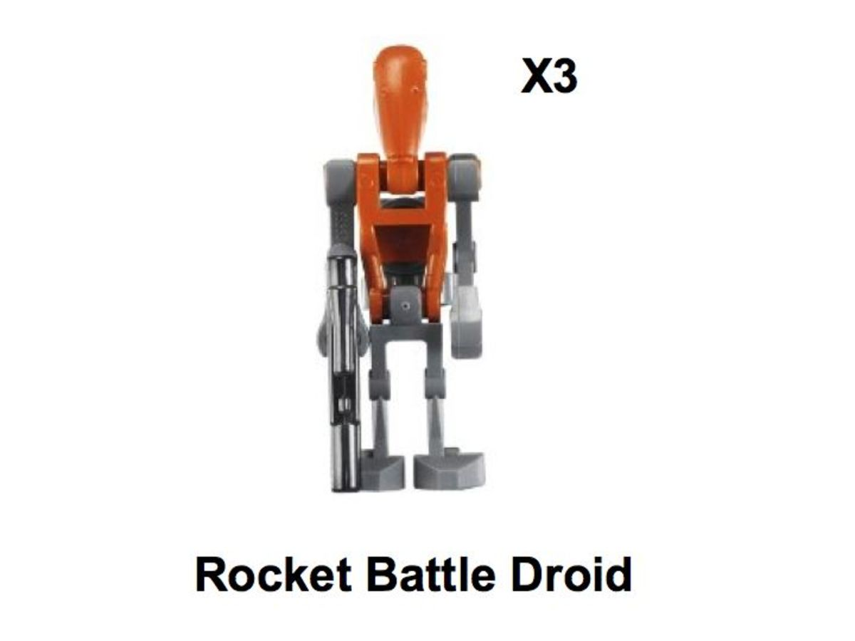 LEGO Star Wars Hyena Droid Bomber 8016 Rocket Battle Droid Minifigure