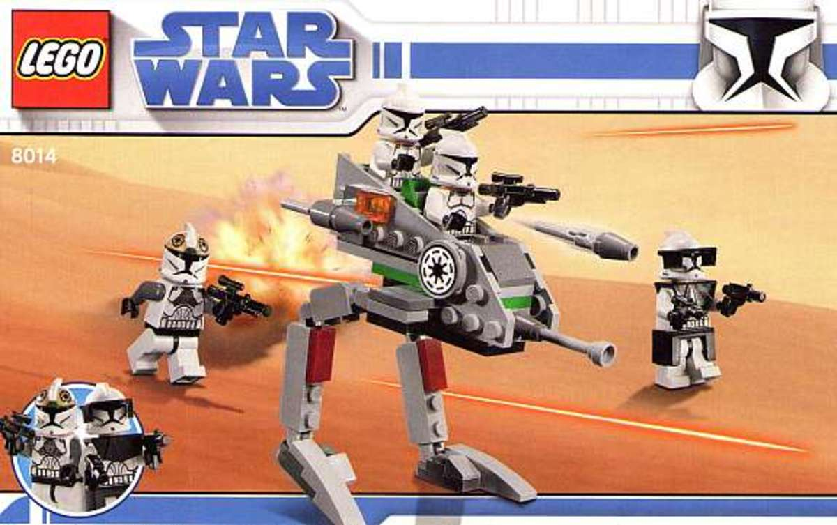 LEGO Star Wars Clone Walker Battle Pack 8014 Box