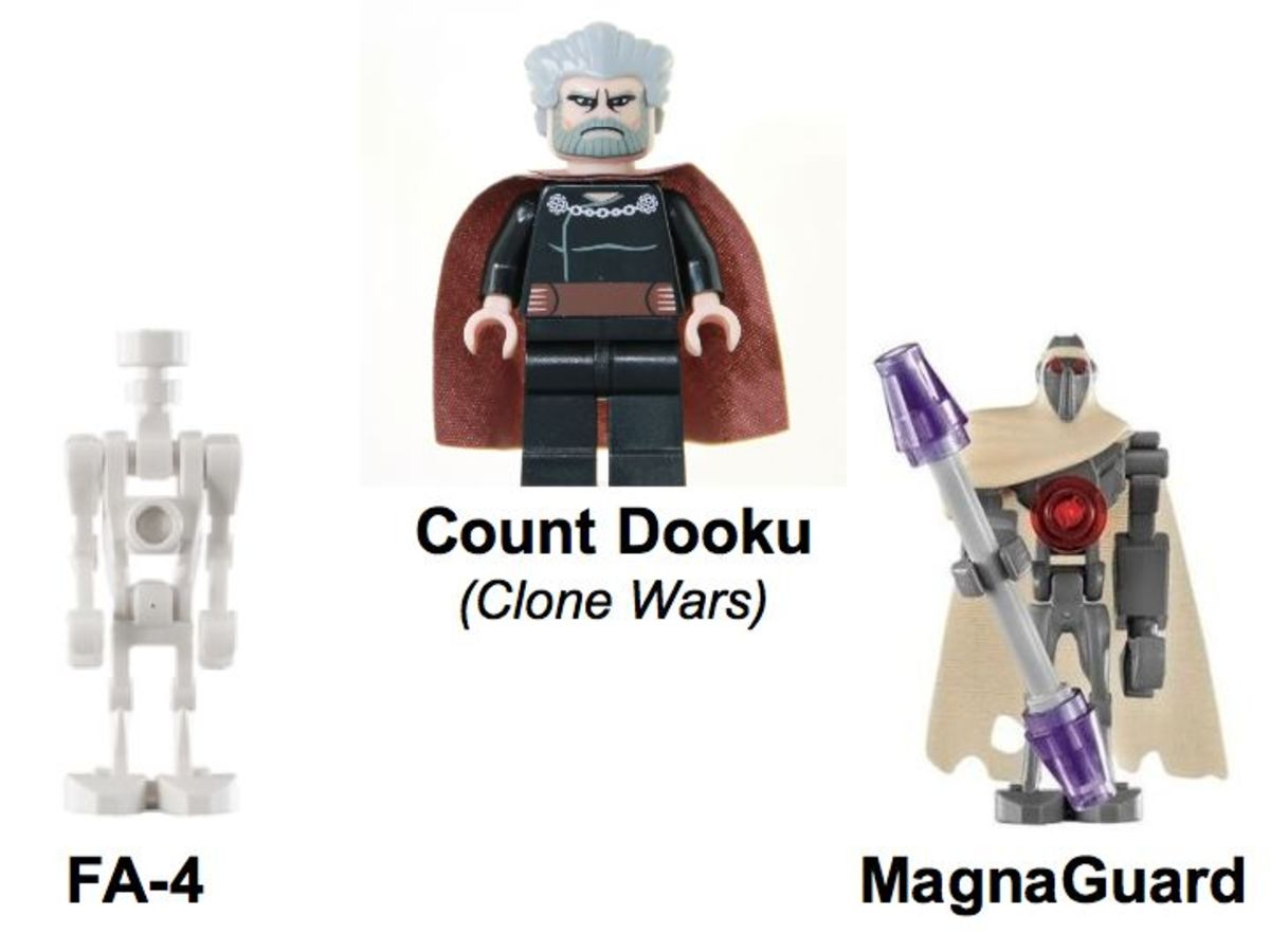 LEGO Star Wars Count Dooku's Solar Sailer 7752 Minifigures