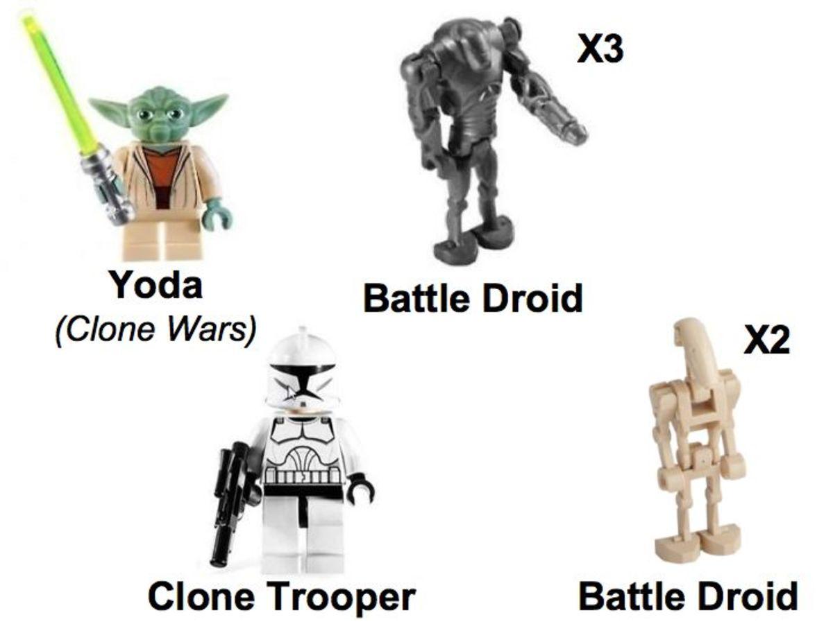 LEGO Star Wars Armored Assault Tank 8018 Minifigures