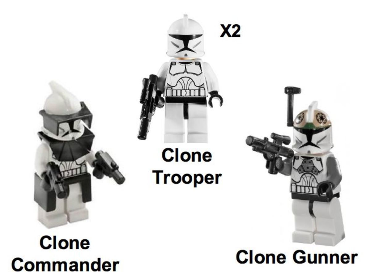 LEGO Star Wars Clone Walker Battle Pack 8014 Minifigures