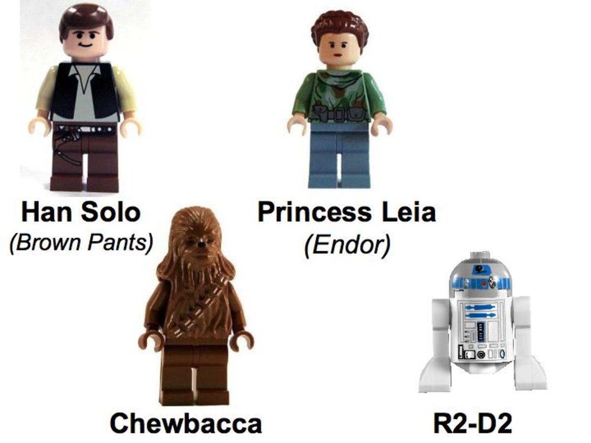 LEGO Star Wars Battle Of Endor 8038 Rebel Minifigures