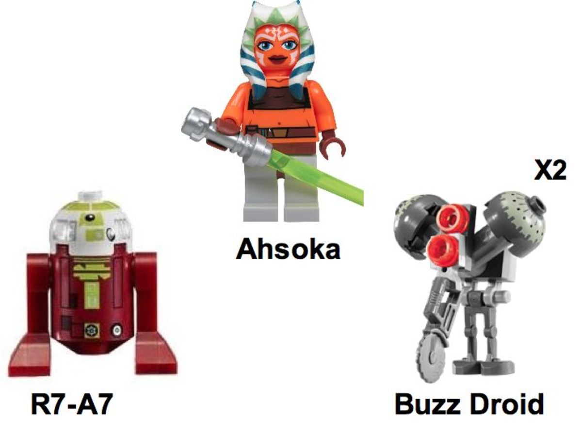 LEGO Star Wars Ahsoka's Starfighter & Vulture Droid 7751 Minifigures