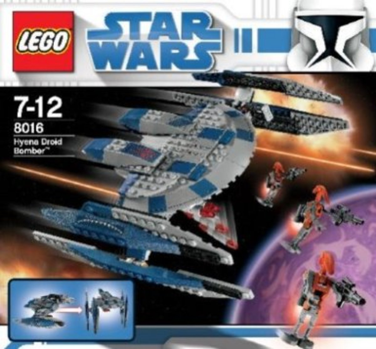 LEGO Star Wars Hyena Droid Bomber 8016 Box