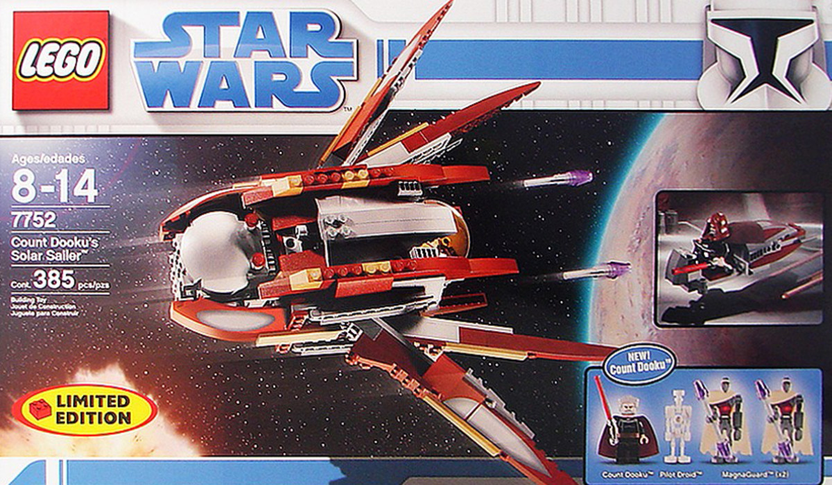 LEGO Star Wars Count Dooku's Solar Sailer 7752 Box