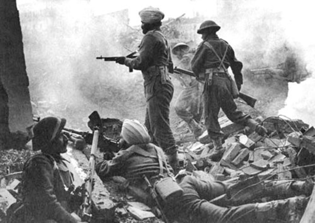 Indian troop in action at Italian Campaign.