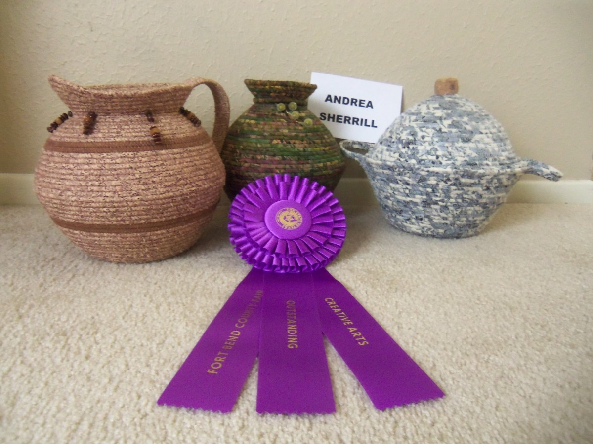 Sherrill's corded pottery wins prizes too!
