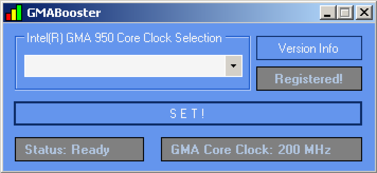 The default interface of GMA Booster.