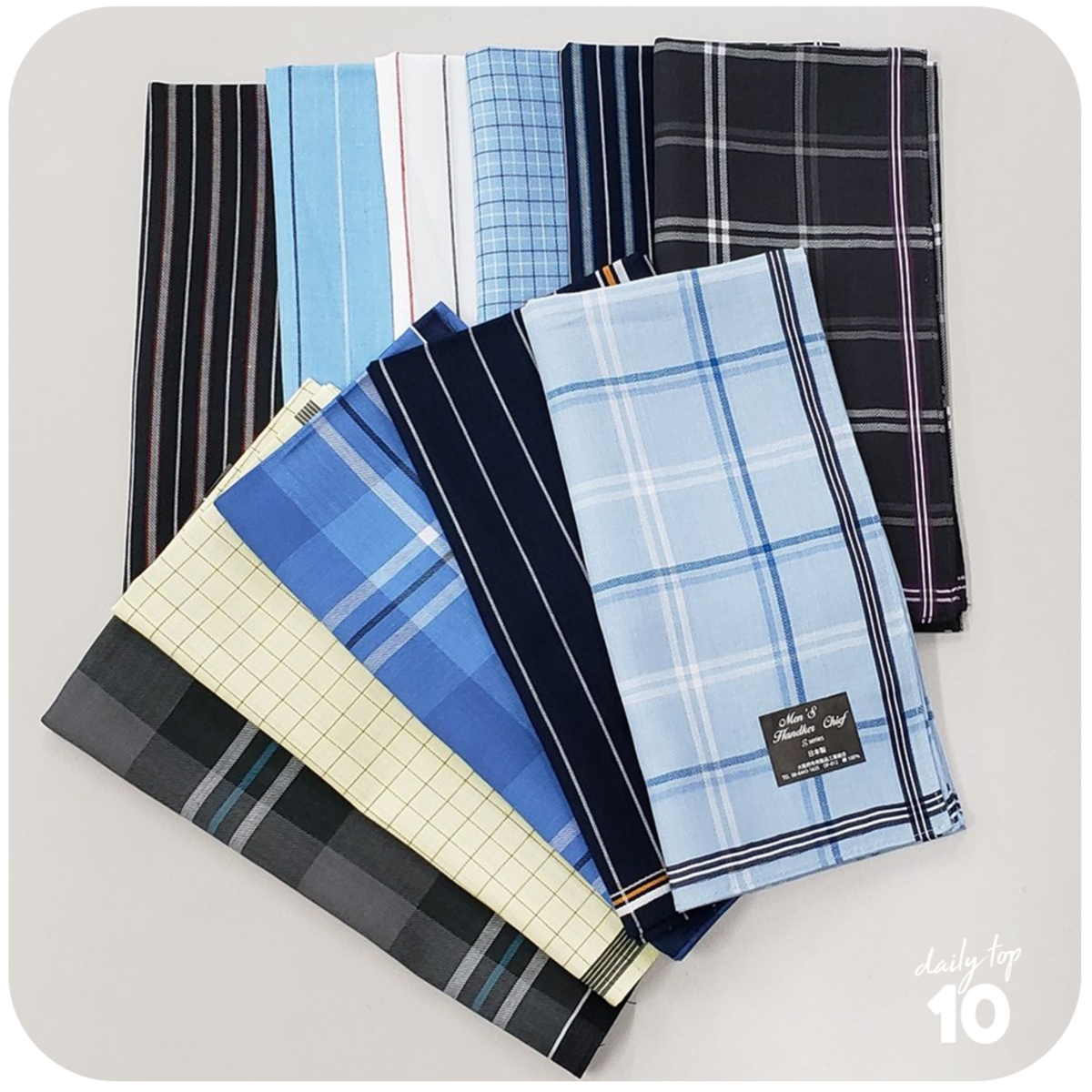 A set  of handkerchief for your man's daily hustle.