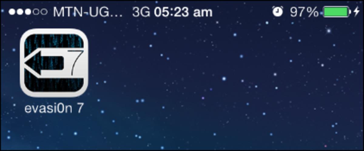Evasion app on the iPhone