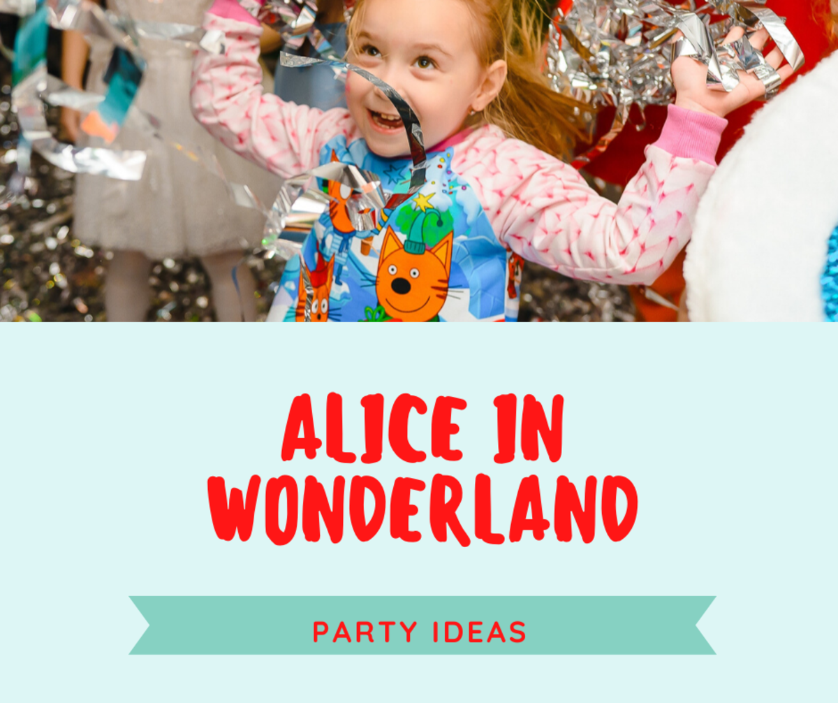 Alice in Wonderland Party Decorations Using Products You Already Own