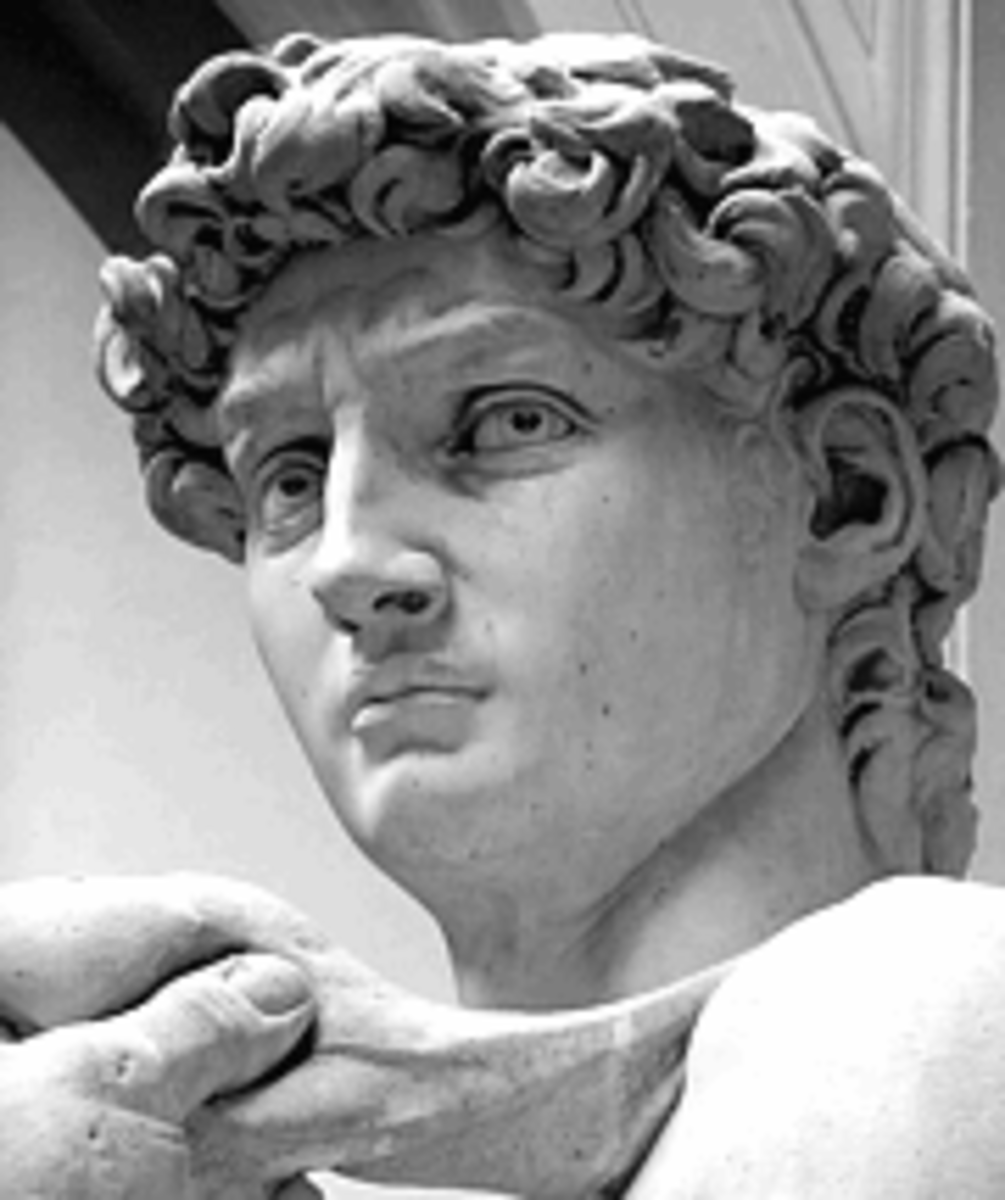 The eyes of David look towards Rome