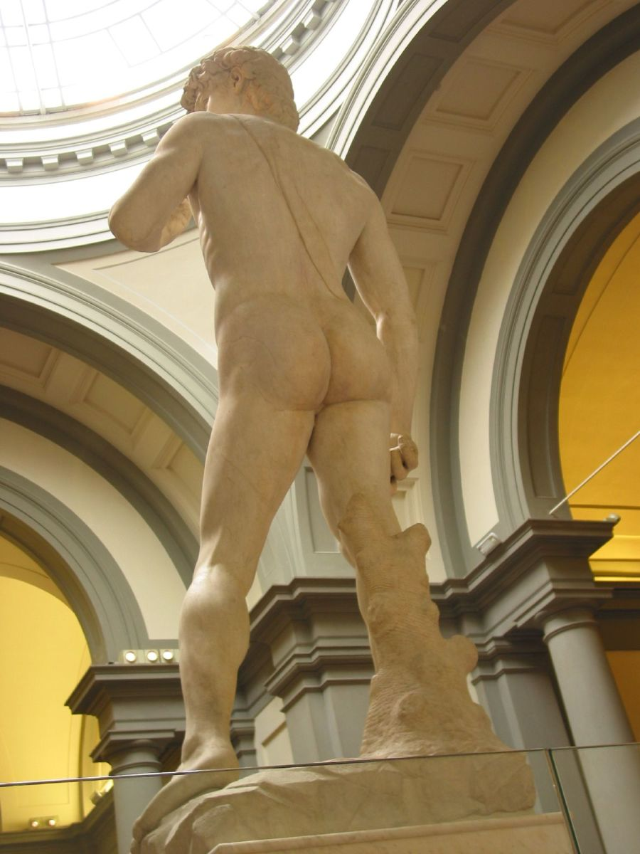 The rear of David.