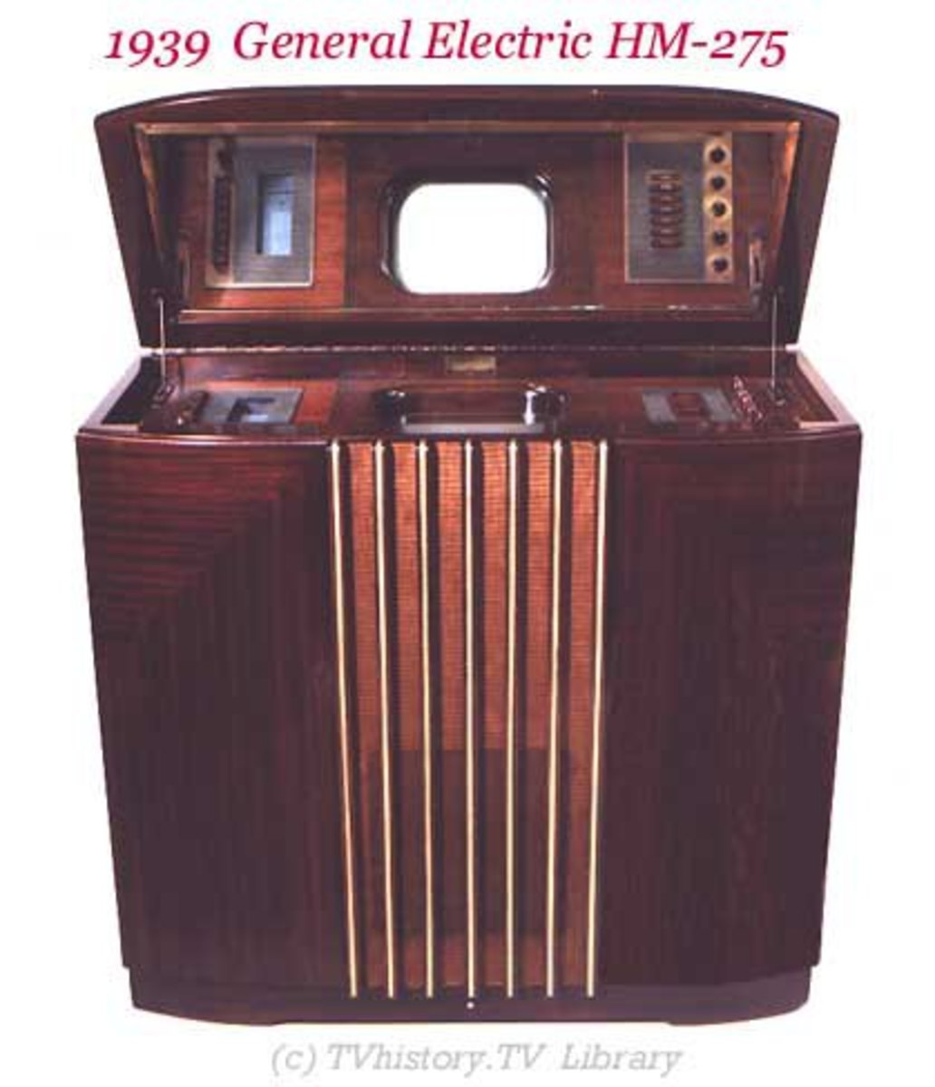 The first TV set.