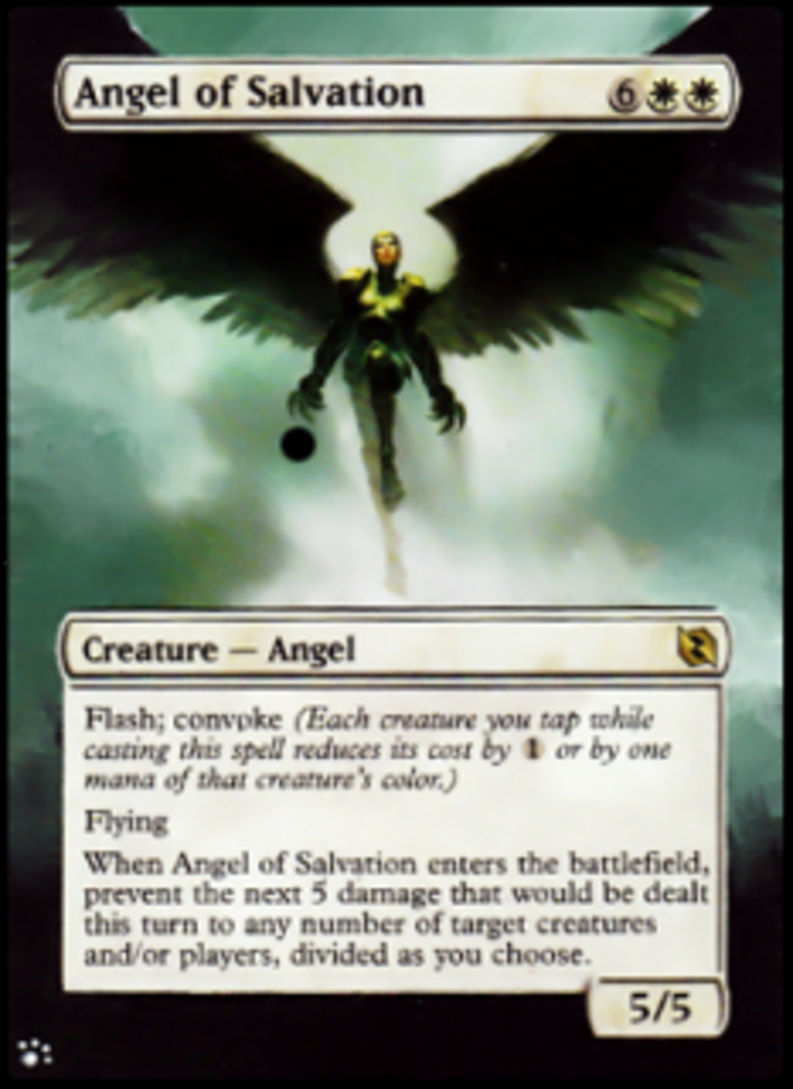 MTG Angel of Salvation Painted Card