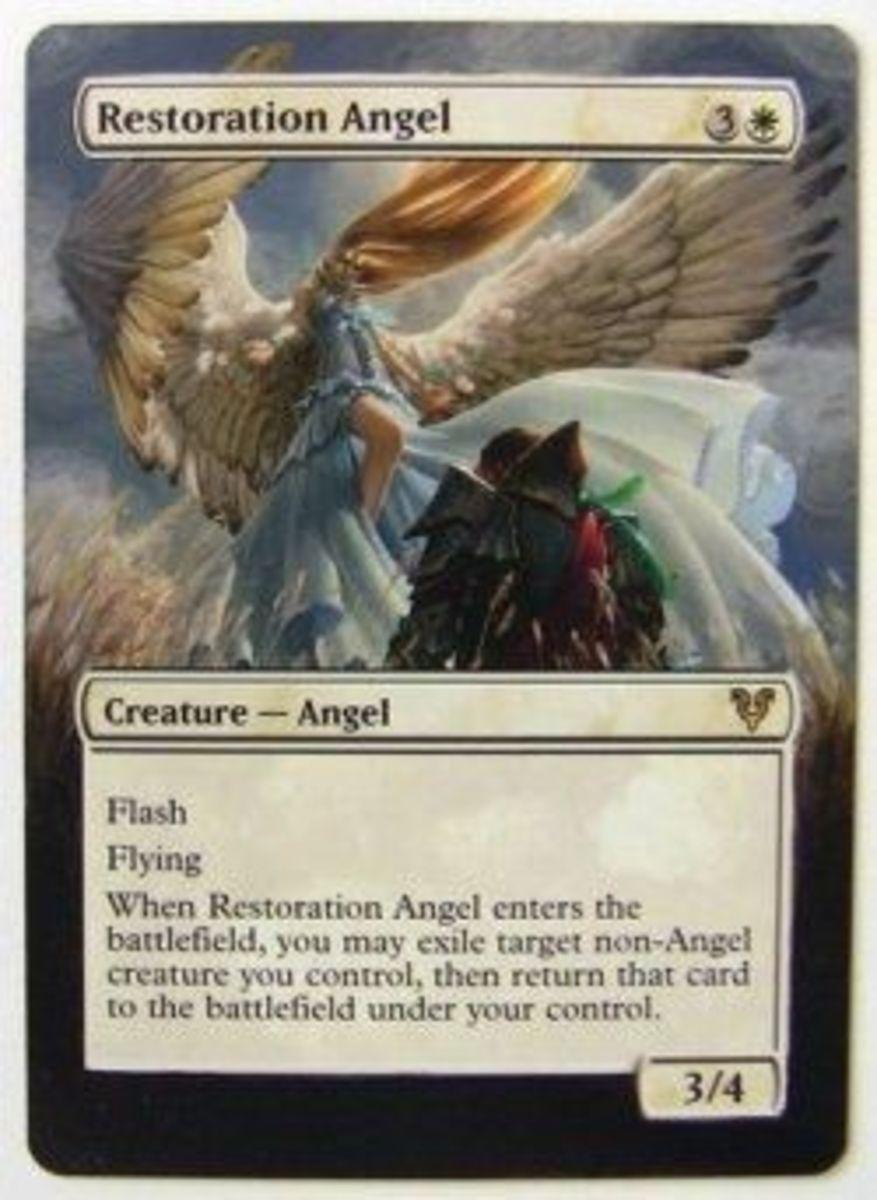 altered art mtg angel card