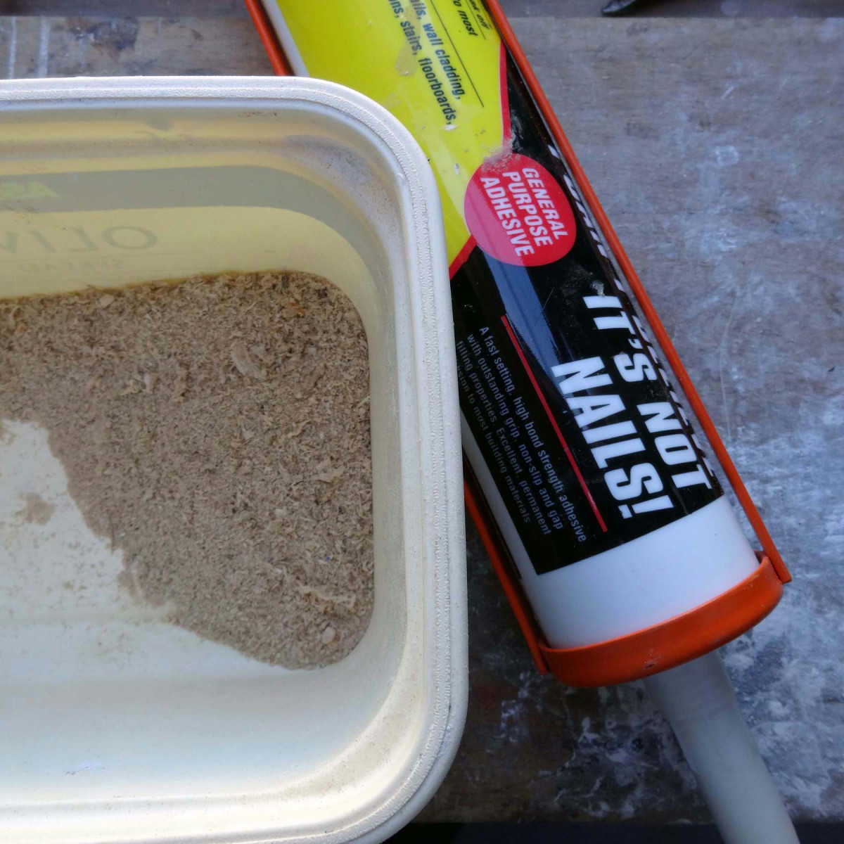 Making your own wood filler