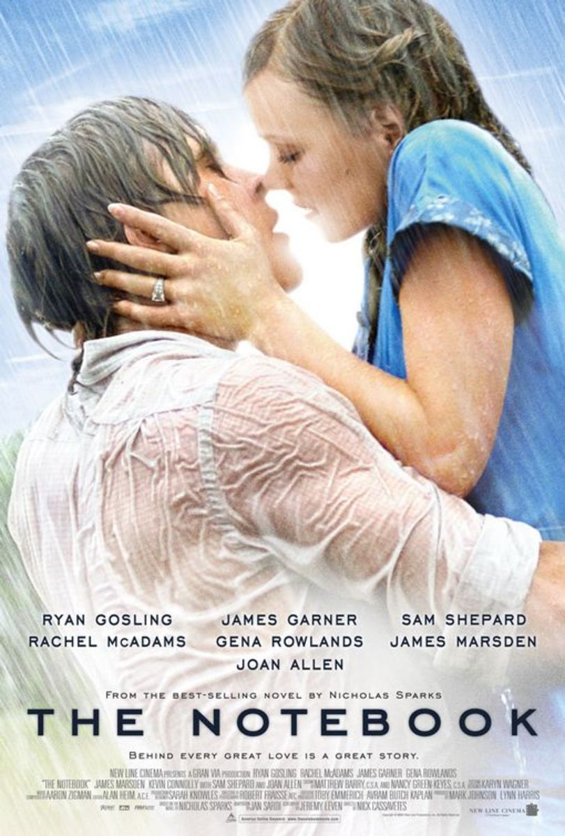 The Notebook is a romantic movie about enduring love (based on the book by Nicholas Sparks).