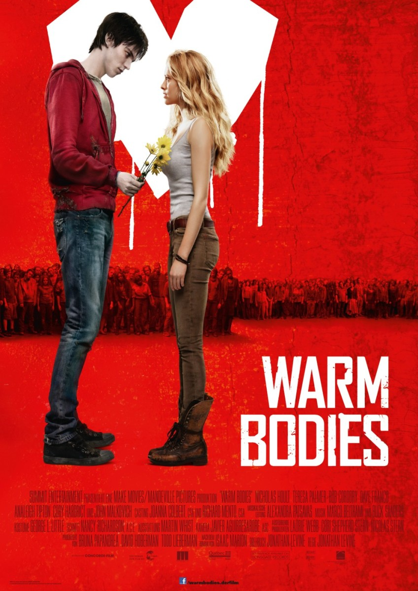 Warm Bodies is a romantic movie about coming to life for love.