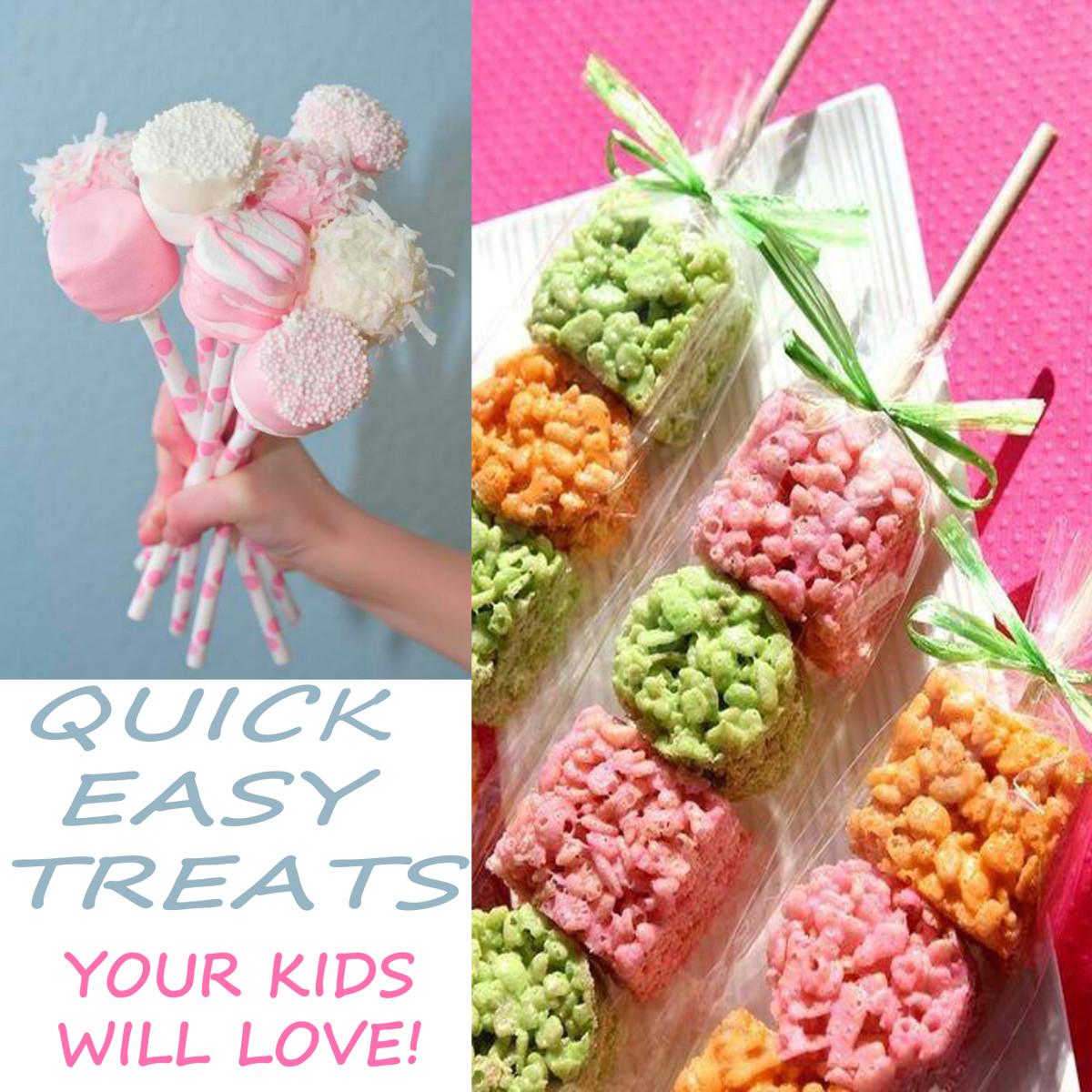 Easy party friendly kid (or kid at heart) treats.